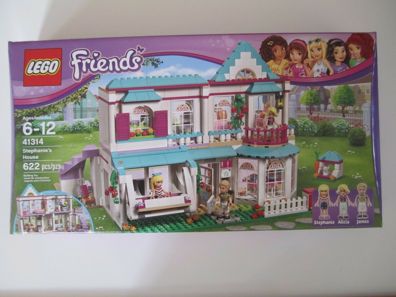 41314 LEGO Friends Stephanie's House Heartlake 622 Pieces  Sealed Nuovo In Box