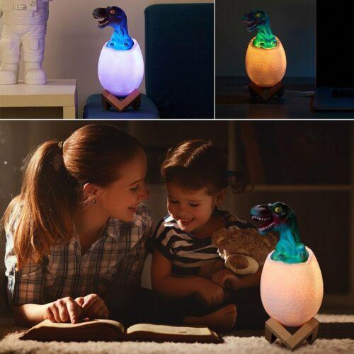 3D touch LED Night Light Jurassic Dinosaur Table Desk Lamp 16-Colors Change Mode