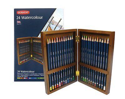 Derwent Watercolour Pencils 24 Wooden Box
