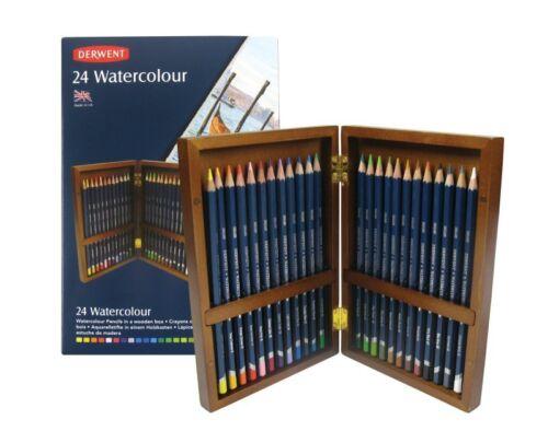 Derwent 24 crayons aquarelle Boîte en bois