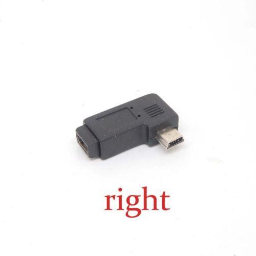 premium Mini USB Male right-Angle to Mini USB Female Cover adapter converters
