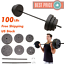 100lb-BARBELL-FREE-WEIGHT-Home-Gym-Fitness-Equipment-Adjustable-Weight-Set-Vinyl thumbnail 1