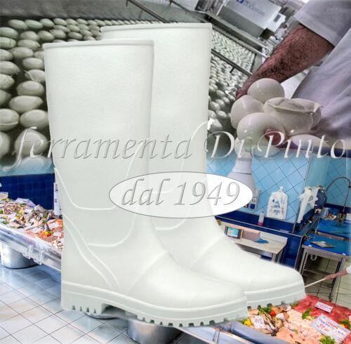 Bottes Blanc PVC Caoutchouc nitrile genou alimentaire 38 39 40 41 42 43 44 45