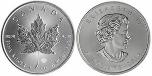 LOT-OF-100-1-OUNCE-SOLID-DATE-SILVER-CANADIAN-MAPLE-LEAF-COINS-9999-1oz