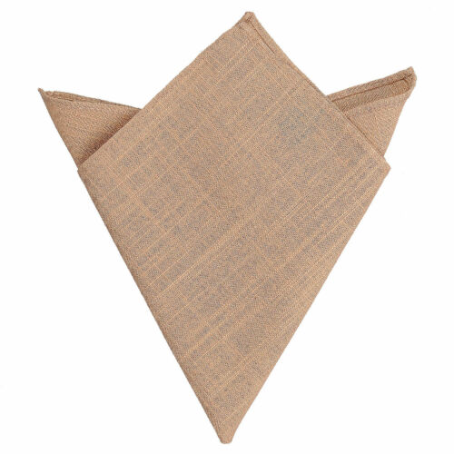 JA Hopsack Linen Solid Plain Casual Mens Hanky Handkerchief Pocket Square