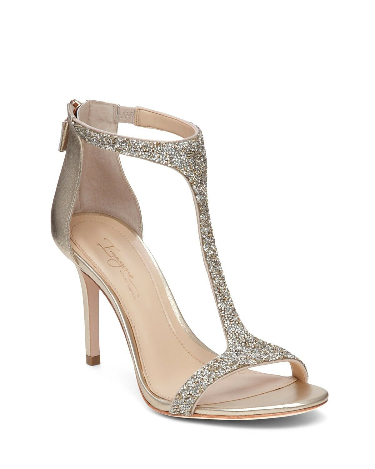 NEW Imagine by Vince Camuto Phoebe T-Strap Sandals 9 M Iridescent