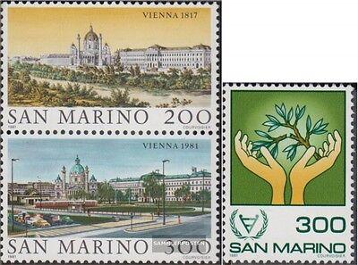 kompl.ausg. Postfrisch 1981 Weltstädte San Marino 1227-1228 Paar,1229 Wien,