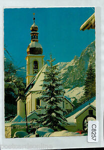 C8257ryt-Germany-Happy-New-Year-Church-in-Snow-postcard