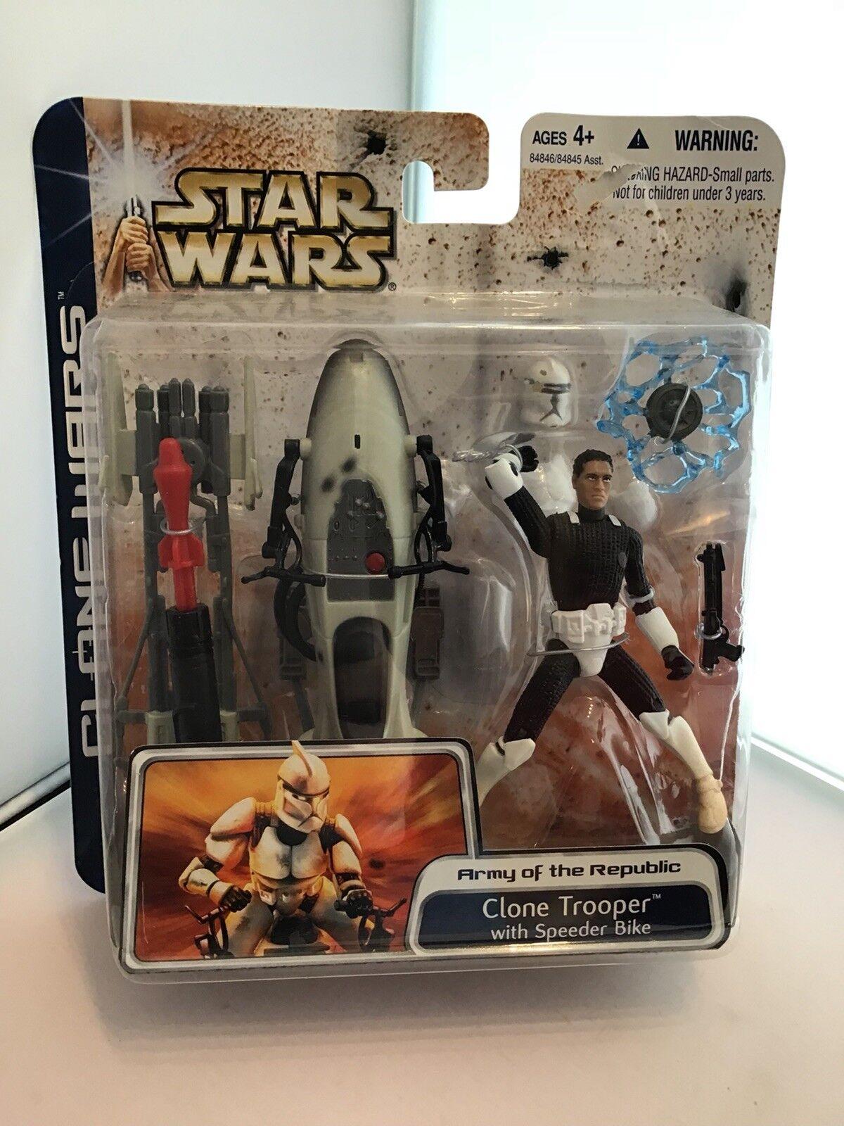 Star - wars - klon soldat mit flitzer klonkriegen fahrrad.