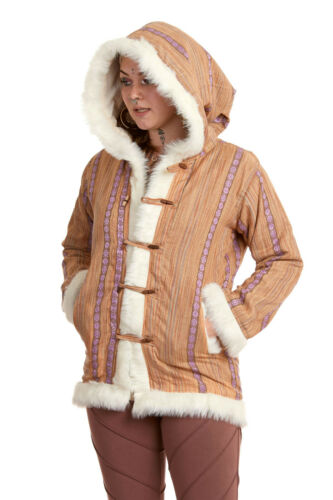 Pixie Hoodie Elven Coat Elf Cosplay Jacket Pixie Hooded Coat with Fur Trim