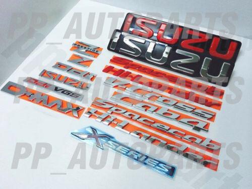 FOR ISUZU CHROME LOGO EMBLEM BADGE DECAL PLATE DMAX D-MAX 2002-2015