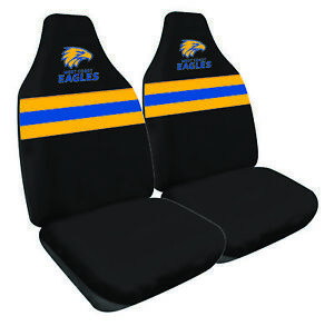 WEST COAST EAGLES Official AFL Seat Covers Airbag Compatible *NEW 2018 Design*