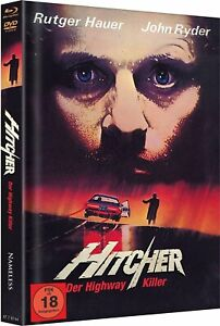 Mediabook-Hitcher-il-Highway-Killer-1986-Copertura-a-Blu-Ray-DVD-Rutger-Hauer
