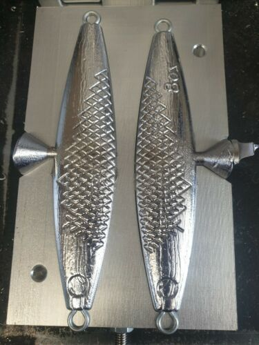SPINNER FISH LURE LEAD WEIGHT MOULD BEACH BOAT COD MACKEREL SEA FISHING 8oz 9oz