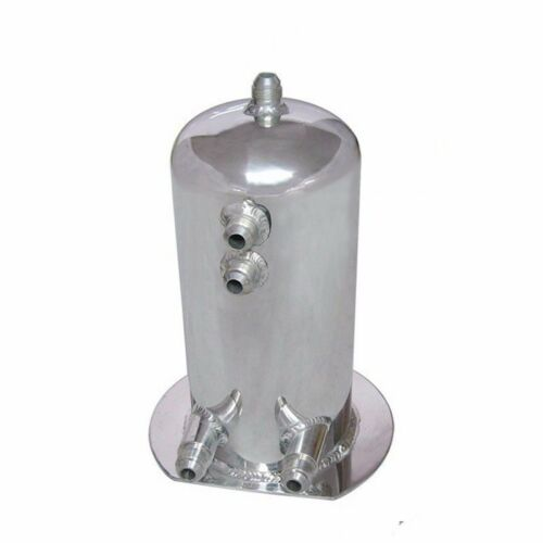 2.5 Liter Alloy Polished Aluminum Swirl Pot AN8 In AN10 Out Dome Fuel Surge Tank