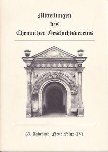 Mitteilungen-des-Chemnitzer-Geschichtsvereins-65-Jahrbuch-Neue-Folge-IV-Chemnitz
