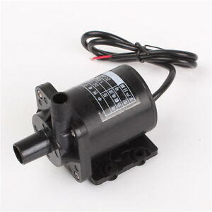 Waterproof DC 12V Electric Centrifugal Brushless Water Pump Lift 550L/H Black