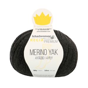Regia Premium Merino Yak 100g Sockenwolle  4 fädig Farbe 07512 anthrazit