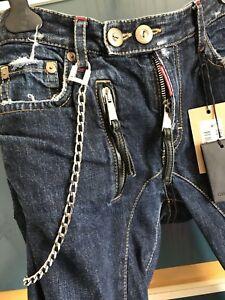 DSQUARED2-Ultra-Rare-SkiSka-Punk-Biker-Jeans-Masterpiece-Oiled-Tartan-71LA188