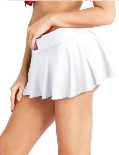 Tennisrock brièvement Rides Skort Mini Jupe avec innenhose Blanc Gris Noir Bleu S-XL