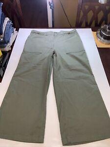New White House Black Market Women's The Wide Leg Pants Size 14 Green
