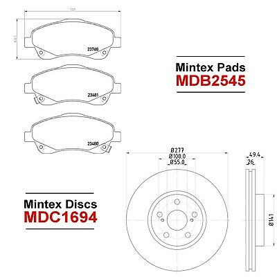 Mintex MDB1815 Brake Pad Set