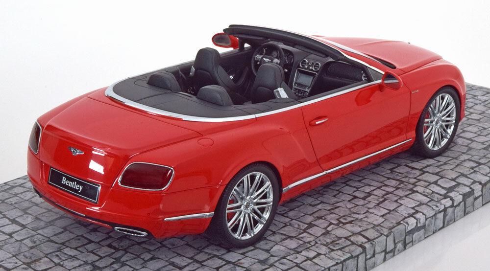 Minichamps Minichamps Minichamps 2013 Bentley Continental Gt Vitesse Cabriolet Rouge le de 999 0.1cm 78a90d