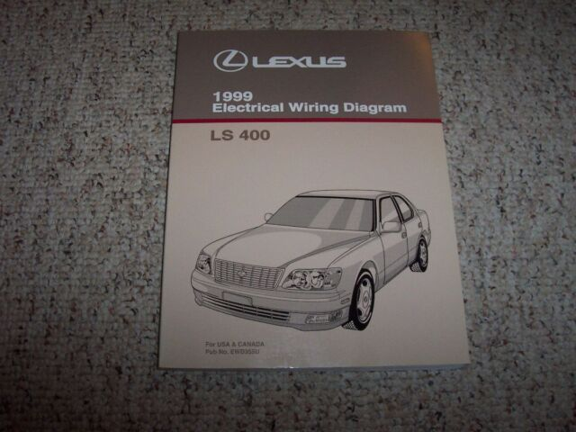 1999 Lexus Ls400 Ls 400 Factory Electrical Wiring Diagram