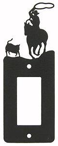 Calf-Roping-Rodeo-Horse-Single-Rocker-Plate-Black-1