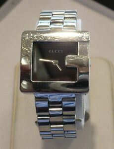 6adeda3556e Image is loading GUCCI-3600-L-STAINLESS-STEEL-WOMEN-039-S-