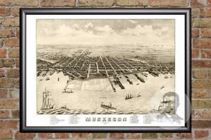 Vintage-Muskegon-MI-Map-1874-Historic-Michigan-Art-Old-Victorian-Industrial
