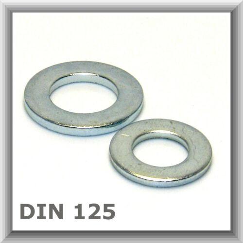 Beilagscheiben d Unterlegscheiben DIN 125 M36 schmaler Rand verzinkt M4