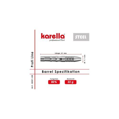 Steelbarrel Karella Profi Line 80/% Tungsten Steeldart Barrel Metallspitze Dart