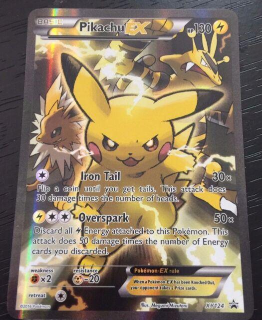 ULTRA RARE FULL ART HOLO PROMO CARD NM POKEMON TCG: PIKACHU EX XY124