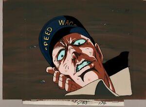 Jojo-039-s-Bizarre-Adventure-Prod-Cel-Background-A4-anime-1993-Speed-Wagon-doomed