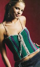 CUTE Teen Tube Top/Apparel/ Crochet Pattern INSTRUCTIONS ONLY