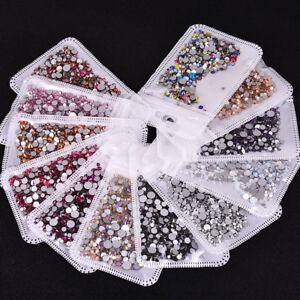 Wholesale-Mix-Size-SS3-SS30-Crystal-Glass-Round-Nail-art-Rhinestone-Flatback-DIY