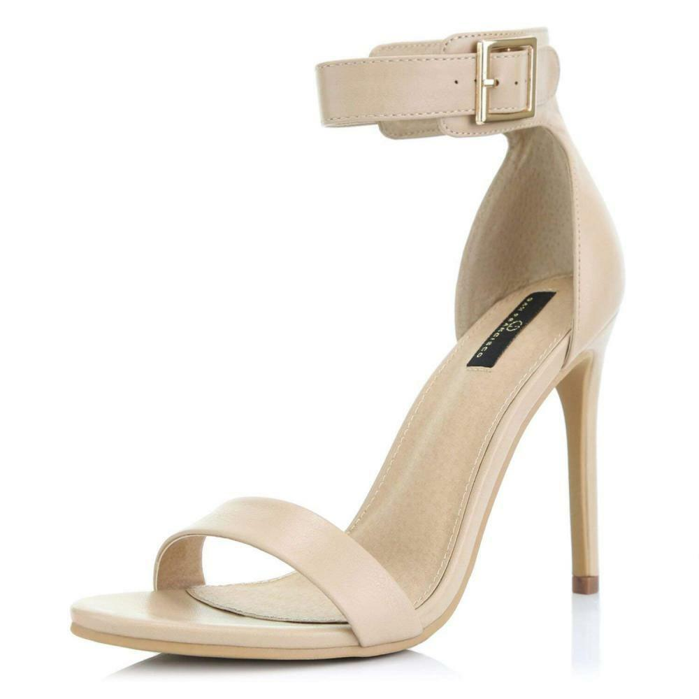 Dailyshoes Women's Stiletto Heels Open Toe Ankle Buckle Strap Platform High...