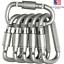 4Pcs Carabiner Clip Set Aluminum Alloy Keychain Hook Outdoor D Ring Shape Key US