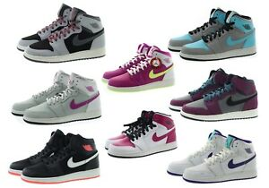 watch 4394b 36545 Image is loading Nike-332148-Kids-Boys-Girls-Air-Jordan-1-