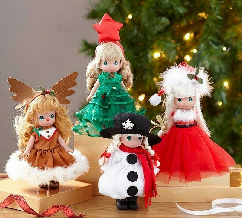 Precious Moments Christmas Doll Collection Set of 4 NEW