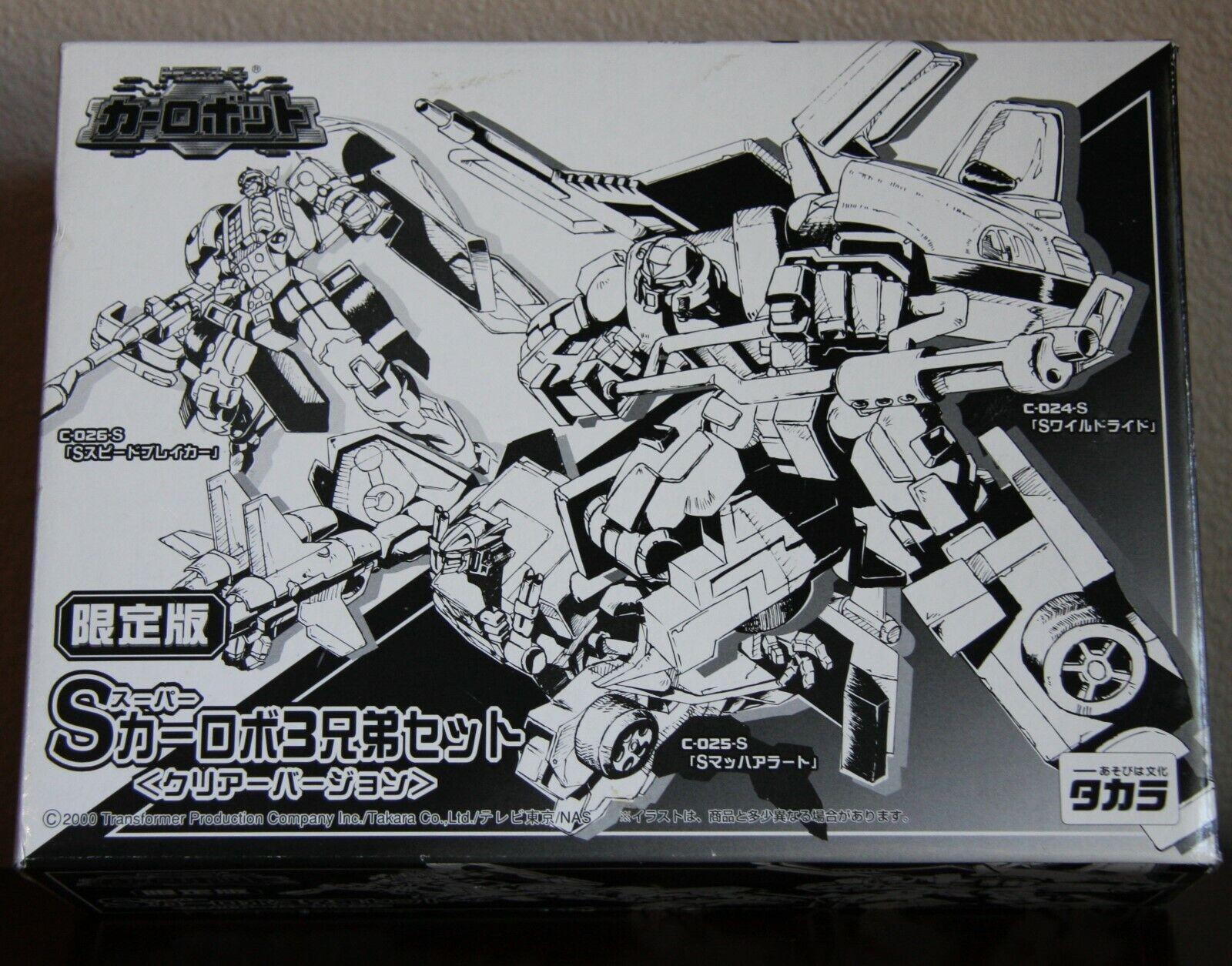 NIB 2000 Limited EditionTransformers RID Takara Clear X-Brawn Prowl Sideburn