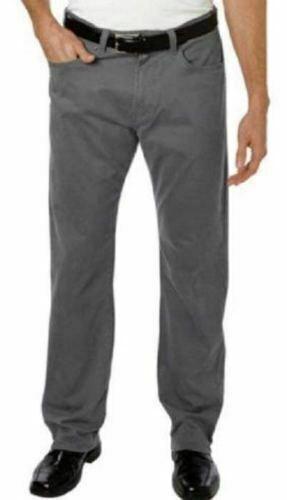 Kirkland Signature Mens 40x 34 5 Pocket Straight Leg Standard Fit Corduroy GREY