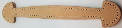 "Natural 9-3//8/"" Shovel Head Leather Trunk Handle holes Slots chest steamer antiqu"