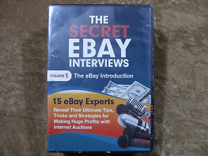 The Secret Ebay Interviews Volume 1 4 Dvd Set Tips For Selling For Profit New Ebay