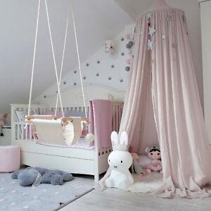 Kinderzimmer baby  Betthimmel Baldachin aus Baumwolle Leinwand Deko Baldachin für ...