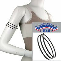 Usa Made Armlet Matte Black Upper Arm Band Cuff Bracelet Triple Curve Ball on Sale