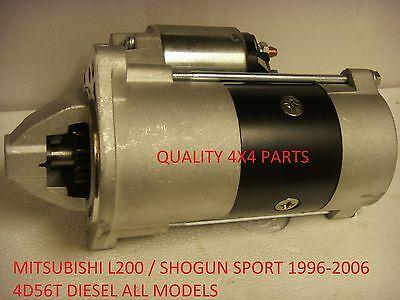 Mitsubishi L200 SHOGUN SPORT 4D56 DIESEL 2.5 STARTER MOTOR BRAND NEW