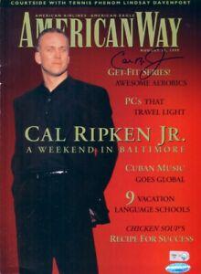 Cal-Ripken-autographed-signed-auto-Orioles-1999-American-Way-magazine-IRONCLAD