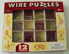 Nib 12 Schylling Wire Puzzles 8+ Boys & Girls
